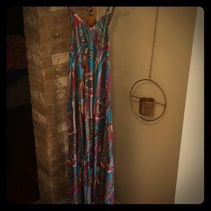 Tommy Hilfiger paisley Maxi dress size medium